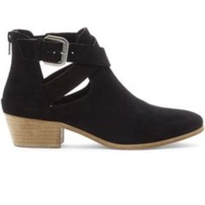 Sole Society Evie Cut-Out Suede Bootie